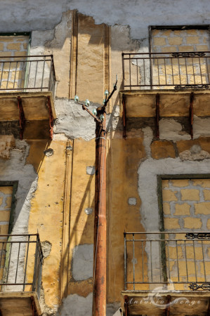 Palermo, Sicilia, Sicilybuilding, balcony, edificio, old, ruin, ruina