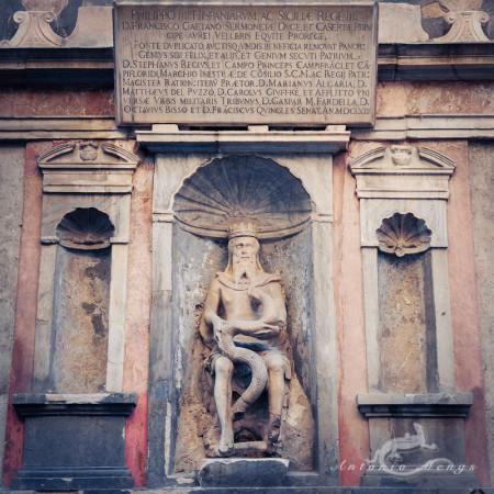 Palermo, Sicilia, Sicily, escultura, genio, genius, sculpture
