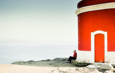 agua, blind, ciego, faro, hombre, lighthouse, man, mar, sea, water