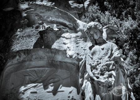 Cementerio, Madrid, cemetery, escultura, flor, flower, sculpture, ángel