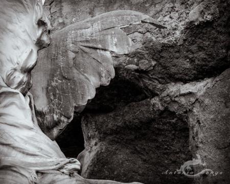 Alcoy, ala, cementerio, cemetery, escultura, roca, rock, sculpture, wing, ángel