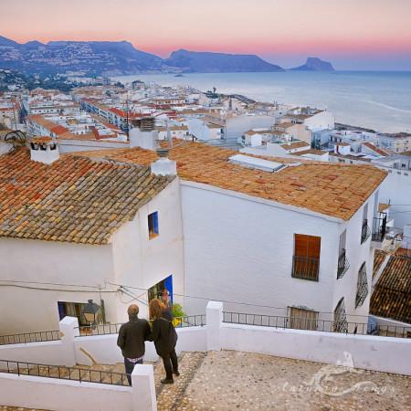 Alacant, Alicante, Altea, architecture, arquitectura, landscape, mar, mediterranean, mediterraneo, paisaje, popular, pueblo, roof, sea, sight, sunset, tejado, village, vista