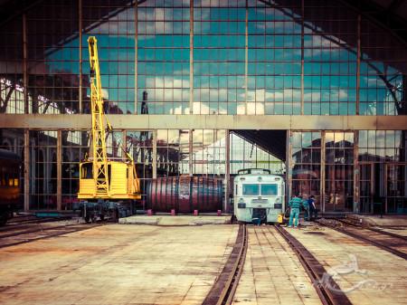Delicias, Madrid, cielo, crane, estación, ferrocarril, grúa, railway, sky, station, train, tren