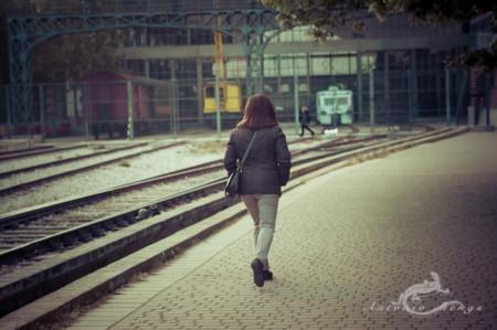 Delicias, Madrid, dog, estación, ferrocarril, mujer, perro, railway, station, train, tren, woman