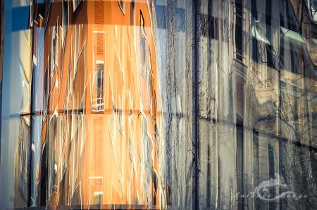 building, calle, edificio, reflection, reflejo, street