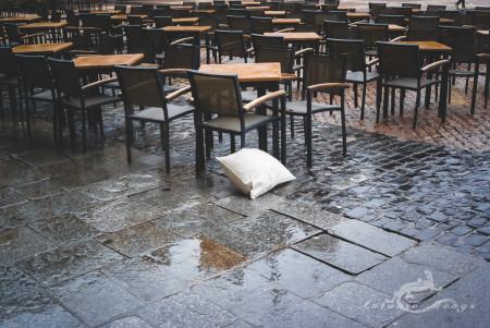 chari, clluvia, person, persona, rain, silla
