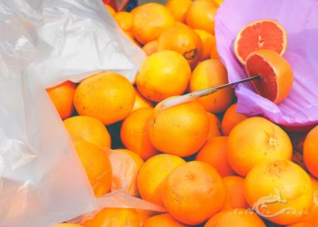 Alacant, Alicante, Calpe, España, Spain, cuchillo, grapefruit, knife, market, mercado, naranja, orange, pomelo