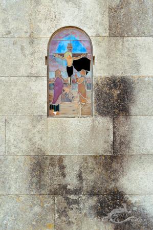 Christ, Lapa, Porto, Portugal, cementerio, cemetery, muro, shade, showcase, sombra, swall, vidriera