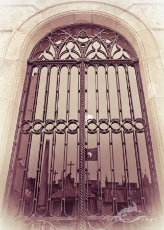 Lapa, Porto, Portugal, cementerio, cemetery, door, puerta, reflection, reflejo, tomb, tumba